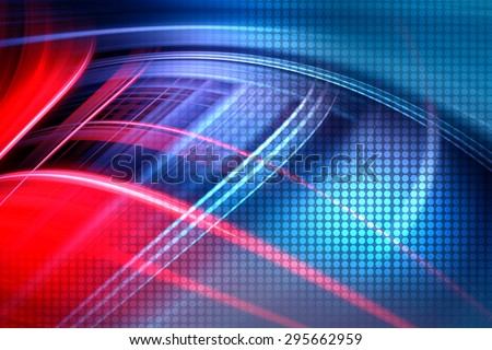 Abstract Colorful Technology Background,Futuristic Red And Blue Waves Background - stock photo