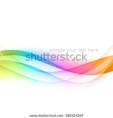 Abstract colorful template waved background. Rainbow wave - stock photo
