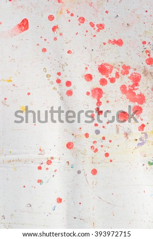 Abstract colorful texture background. Splash acrylic color on wood door. - stock photo