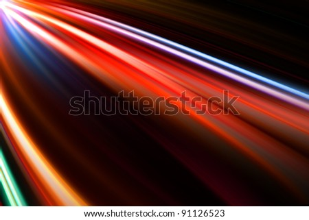 abstract colorful trails - stock photo