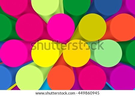 abstract colorful tube background 3d illustration