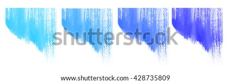 Abstract colorful water color art background hand paint, pastel water color, Blue tone of water color, Cool tone color. - stock photo