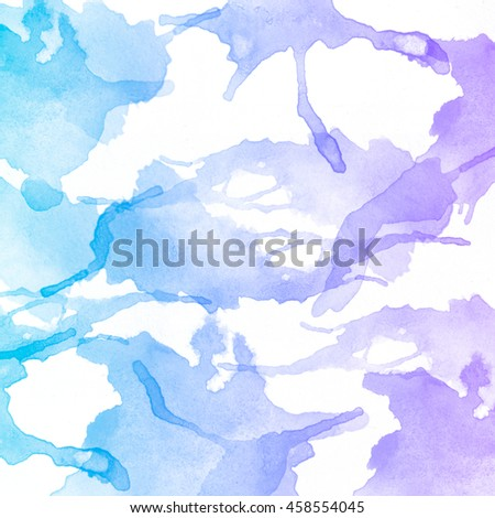 Abstract colorful watercolor art background, hand paint on white background