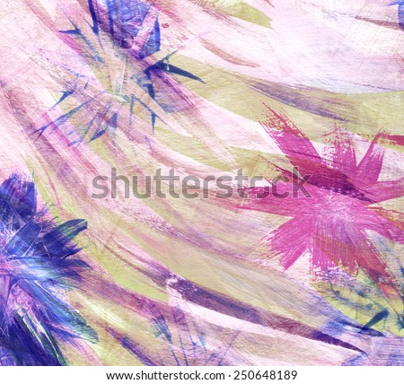 Abstract colorful watercolor hand made painting