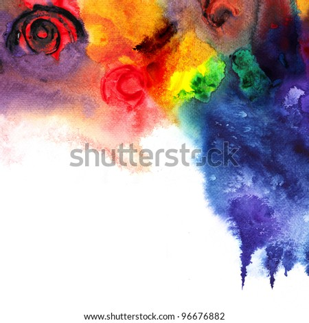 Abstract colorful watercolor ,paint high-resolution - stock photo