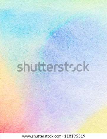 Abstract colorful watercolor painted background - stock photo