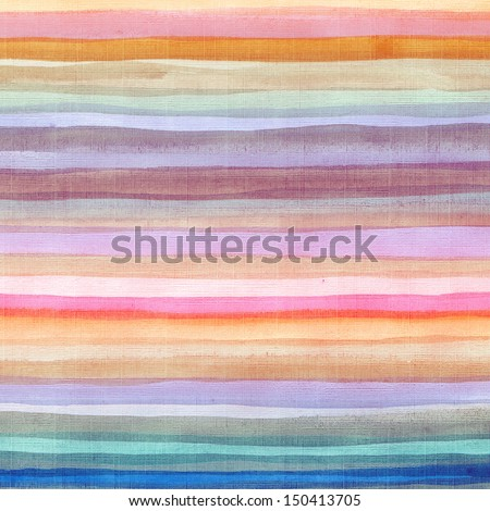 Abstract colorful watercolor striped background  - stock photo