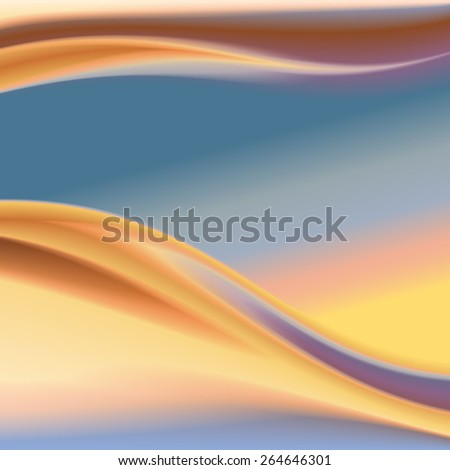 Abstract colorful wave.  5  - stock photo