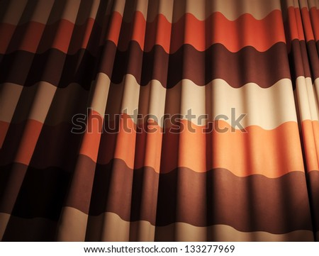 Abstract colorful waved fabric background - stock photo