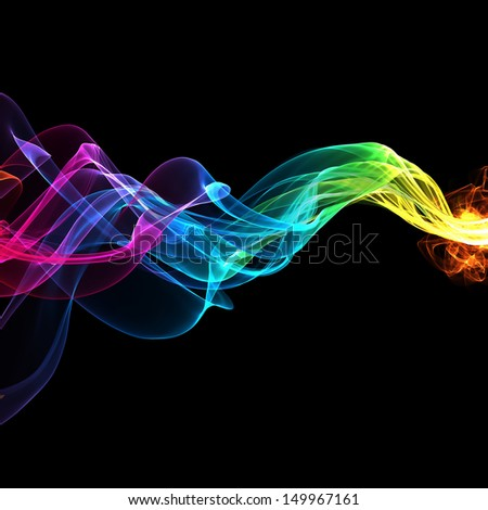 abstract colorful waves  - stock photo