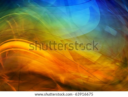 Abstract colorful waves background - stock photo