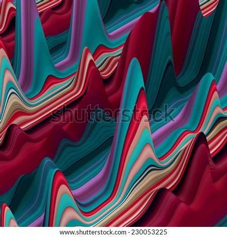 abstract colorful wavy lines, 3d background - stock photo