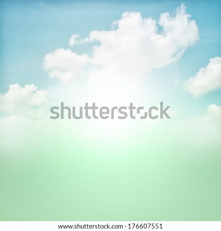 Abstract colorfull background vintage color sky and clouds - stock photo