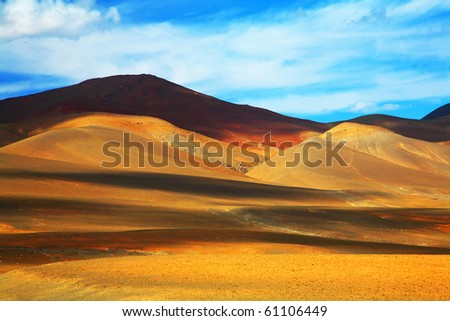 Abstract colors in Atlas Mountains, Africa
