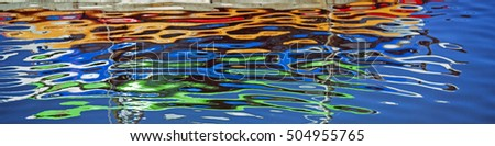 Abstract colors in the water