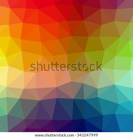 Abstract colors polygonal triangles pattern background.