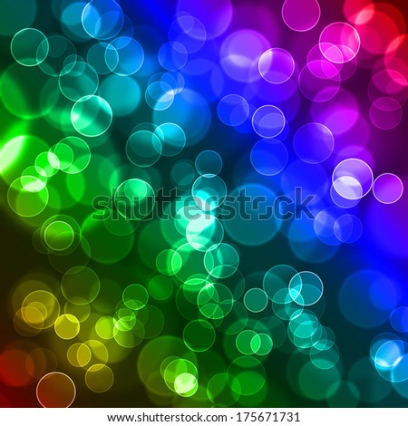Abstract colourful bubbles. - stock photo