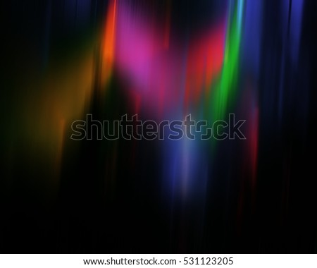 abstract composition color bright spots on a dark background