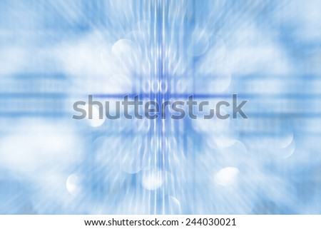 abstract composition in blue tones - stock photo