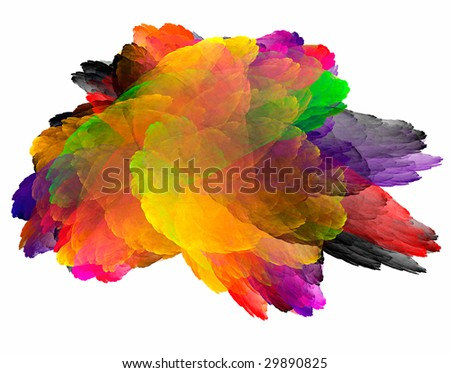 Abstract composition like palette of artist.