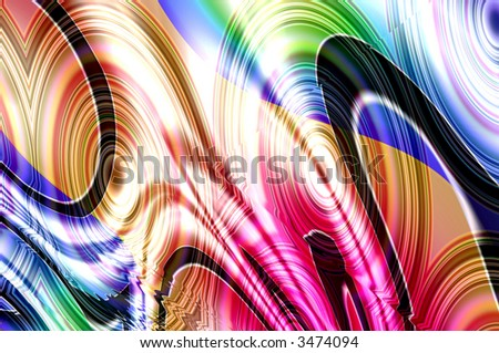 abstract composition, mixed paints  ( more backgrounds in my gallery ) - stock photo