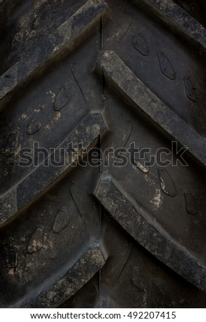 abstract composition of a big black tire