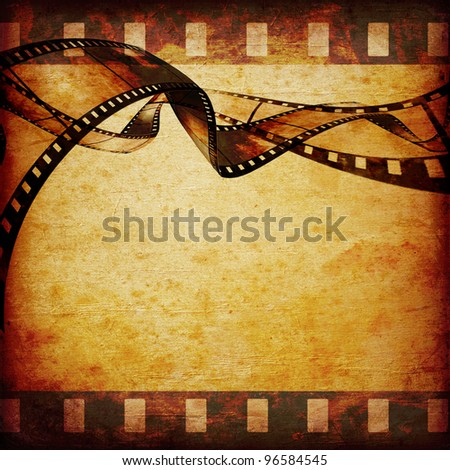 abstract composition of movie frames or film strip - stock photo