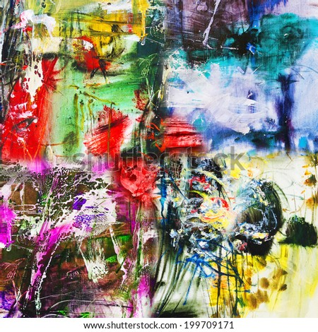 Abstract composition, oil painting art background