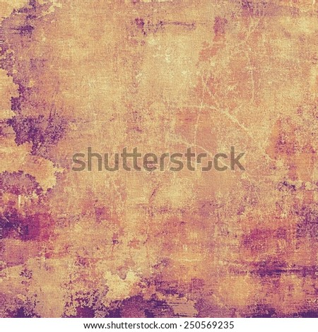 Abstract composition on textured, vintage background with grunge stains. With different color patterns: yellow (beige); brown; purple (violet); pink - stock photo