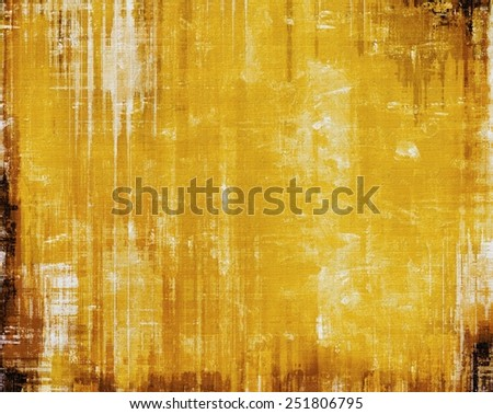 Abstract composition on textured, vintage background with grunge stains. With different color patterns: yellow (beige); brown; black - stock photo