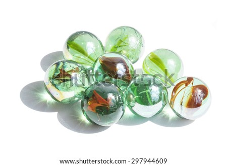 Abstract composition with glass balls - stock photo