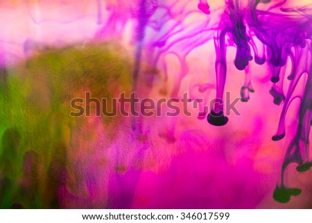 Abstract composition with ink  Beautiful background, texture and colors - stock photo