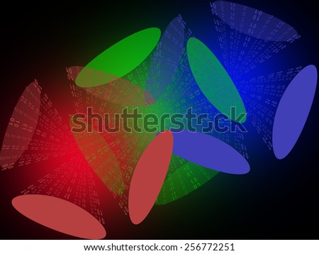 Abstract computer background - stock photo