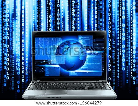 abstract computer code,software program - stock photo