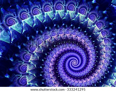 Abstract computer-generated image elegance blue spiral