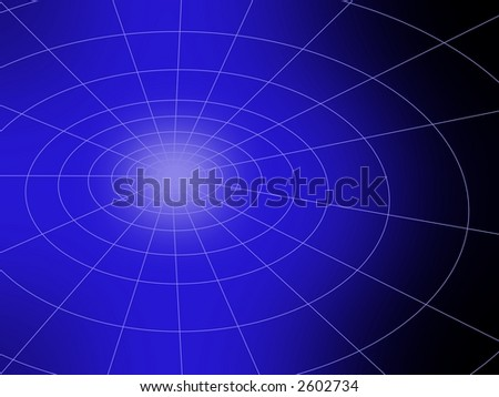 Abstract computer-generated image resembling a globe. - stock photo