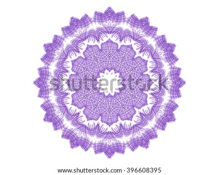 Abstract concentric pattern shape on white background - stock photo