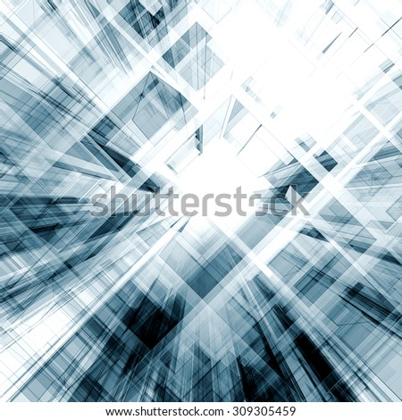 Abstract concept. Architecture design and model my own - stock photo