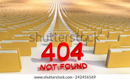 Abstract, concept. Error 404. - stock photo