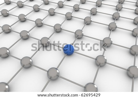 Abstract concept of social global network- 3D rendering - stock photo