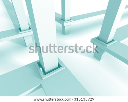 Abstract Construction Structure Design Background. 3d Render Illustration