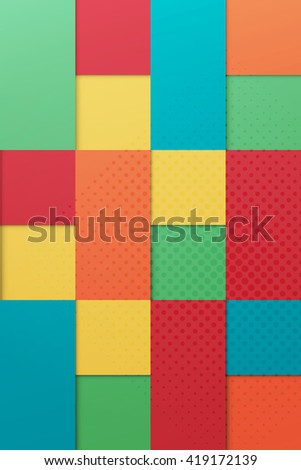 abstract, contemporary, origami style, colorful background. fashion color palette banner template. minimal, geometric wallpaper design - stock photo
