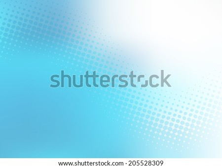 Abstract cool soft blue .jpg dot swirl medical or business background with plenty of copy space.  - stock photo