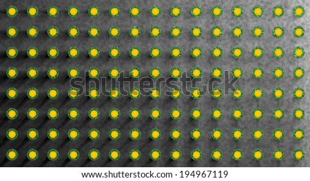 Abstract coral like composition symmetrically arranged. - stock photo