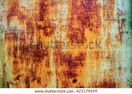 Abstract corroded colorful rusty metal background, rusty metal texture - stock photo