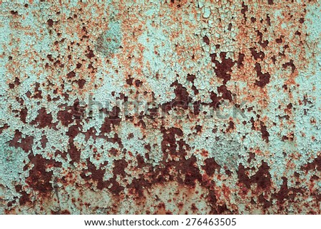 abstract corroded colorful wallpaper grunge background iron rusty artistic wall peeling paint. Oxidized metal surface. Abstract texture - stock photo