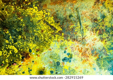 abstract corroded colorful wallpaper grunge background iron rusty artistic wall peeling paint. Please visit my gallery to find more similar photos.