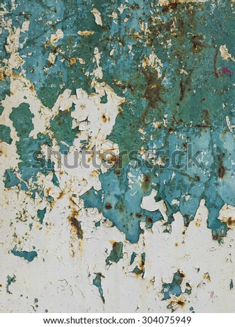 abstract corroded colorful wallpaper grunge background iron rusty artistic wall peeling paint - stock photo