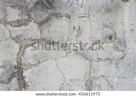 Abstract crack cement wall texture background. - stock photo