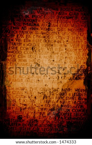 Abstract crazy writing on a grunge textured background